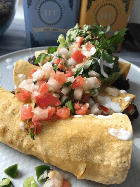 Vegan and Gluten Free Spicy Black Bean Taquitos