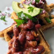 Vegan Gluten Chili Cornbread Waffles