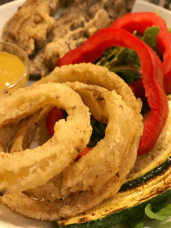 Vegan Gluten Free Crispy Vidalia Onion rings