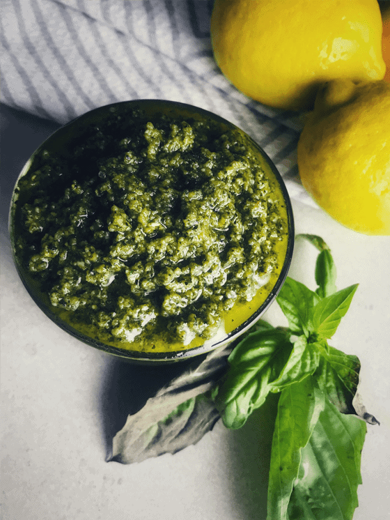Gluten Free Vegan Pesto