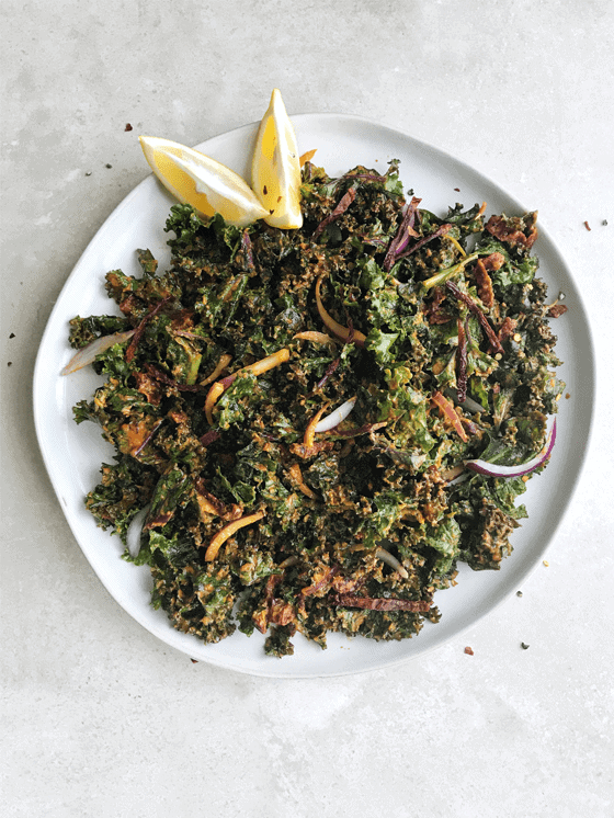 Spicy Kale Salad The Vgn Way