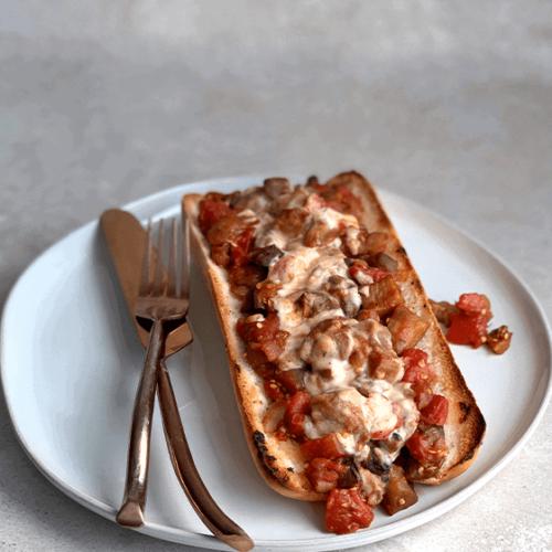 Eggplant Cacciatore Sandwich