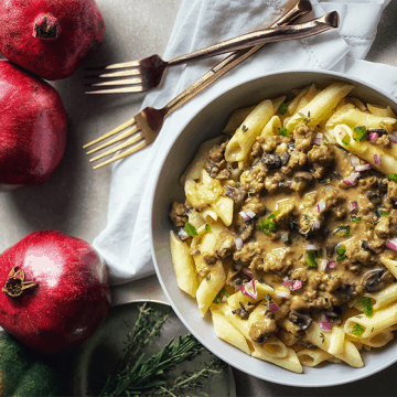 vegan gluten-free mushroom stroganoff