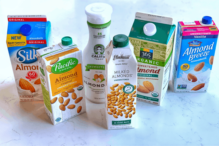Review of 6 national brands of Almond Milk www.thevgnway.com