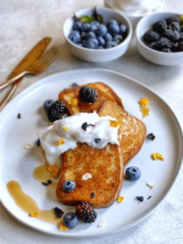 Vegan gluten free french toasr