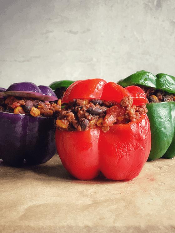 Tex-Mex Vegan Stuffed Peppers