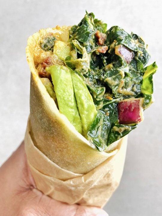 Tassilis Raw Spicy Kale Wrap Copycat Recipe