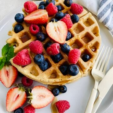 Homemade Vegan Gluten-Free Protein Waffles
