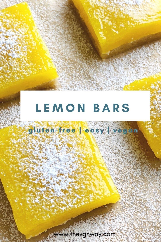 Vegan Gluten-free Lemon Bars Pinterest Image