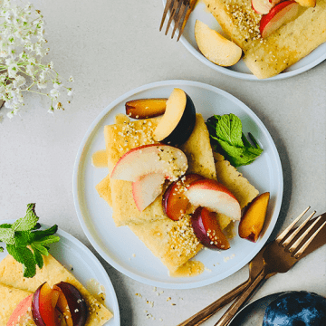 Vegan Gluten-free Sheetpan Pancakes