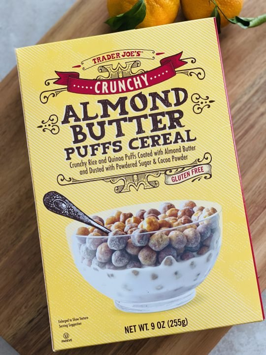 Trader Joe's Crunchy Almond Butter Puffs Cereal