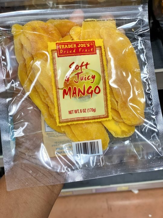 Trader Joe's Dried Mango Slices Vegan & Gluten-free