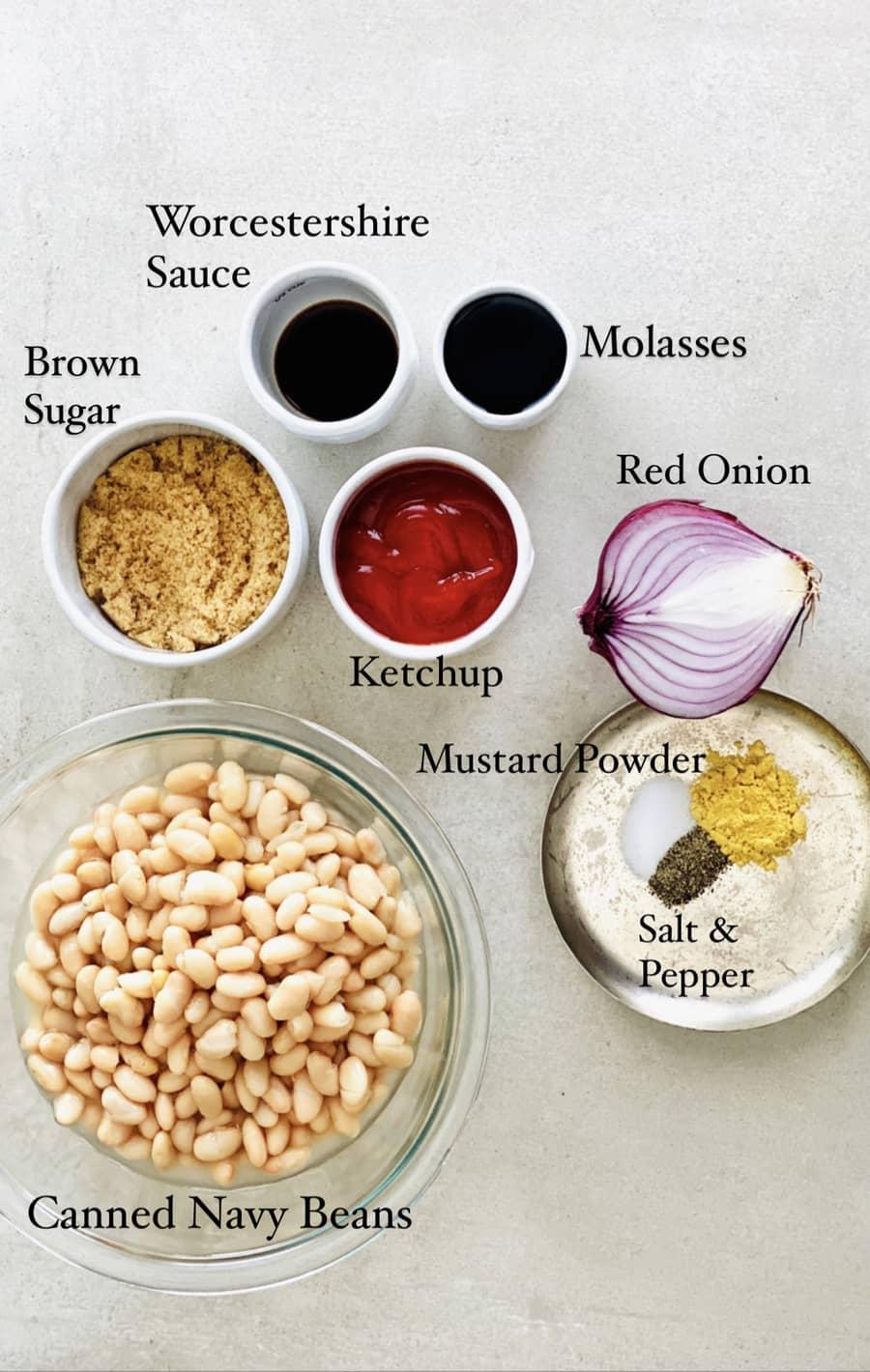 Vegan Gluten-free Baked Beans Ingredients