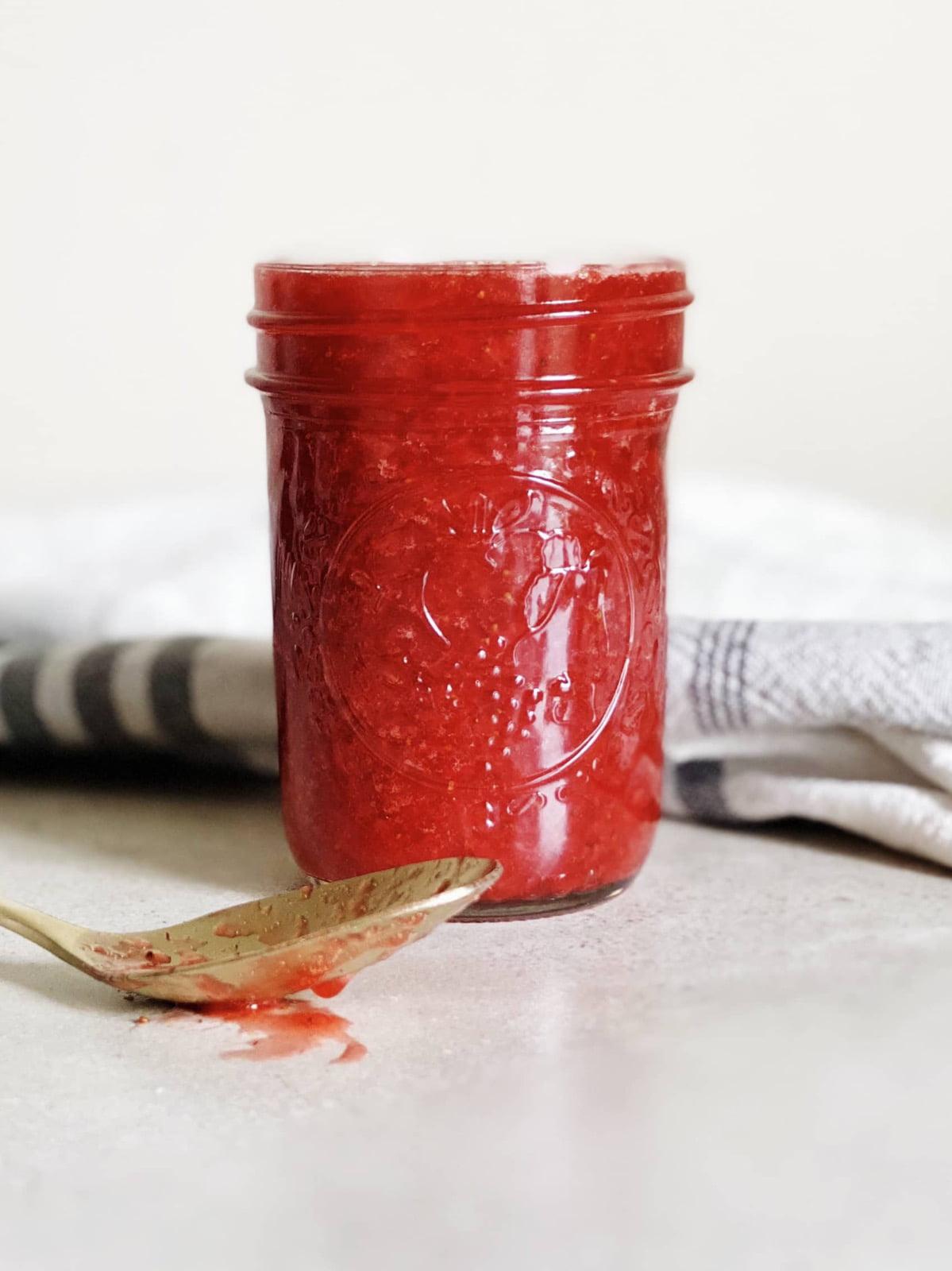 Microwavew Strawberry Jam