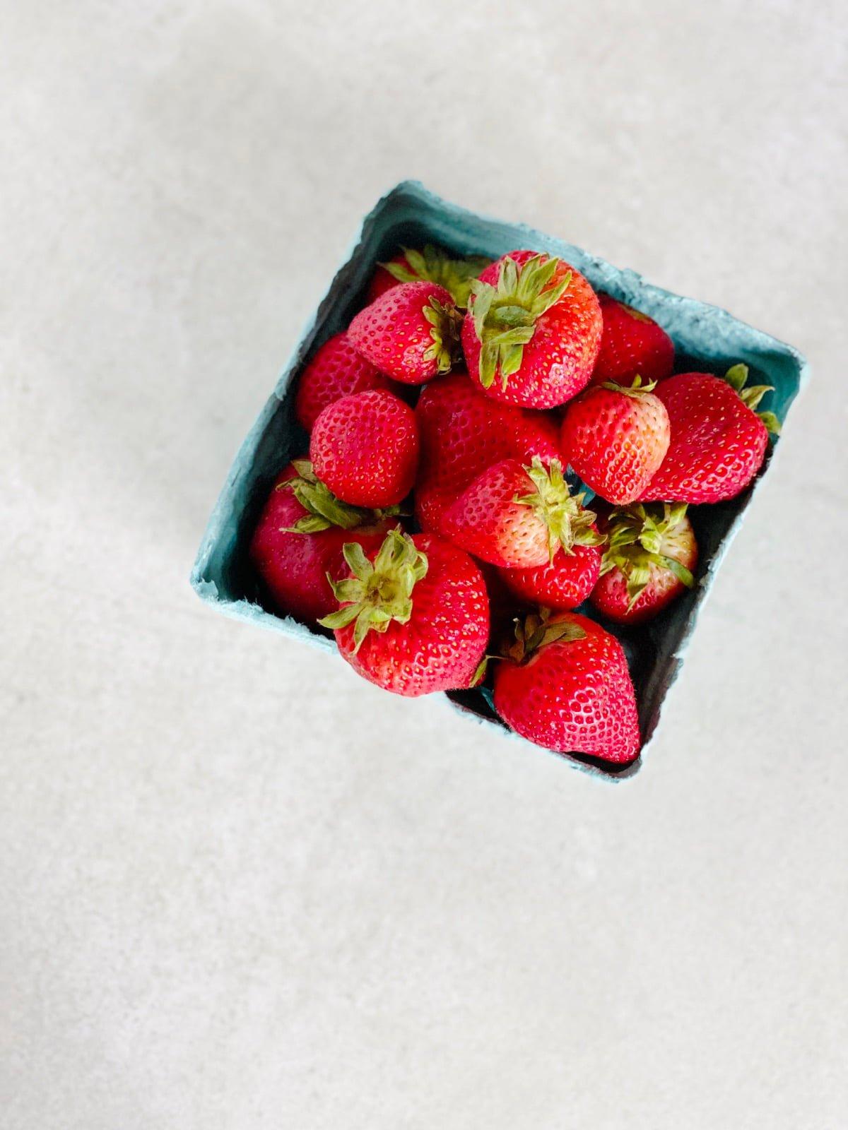 Pint of fresh strawberries
