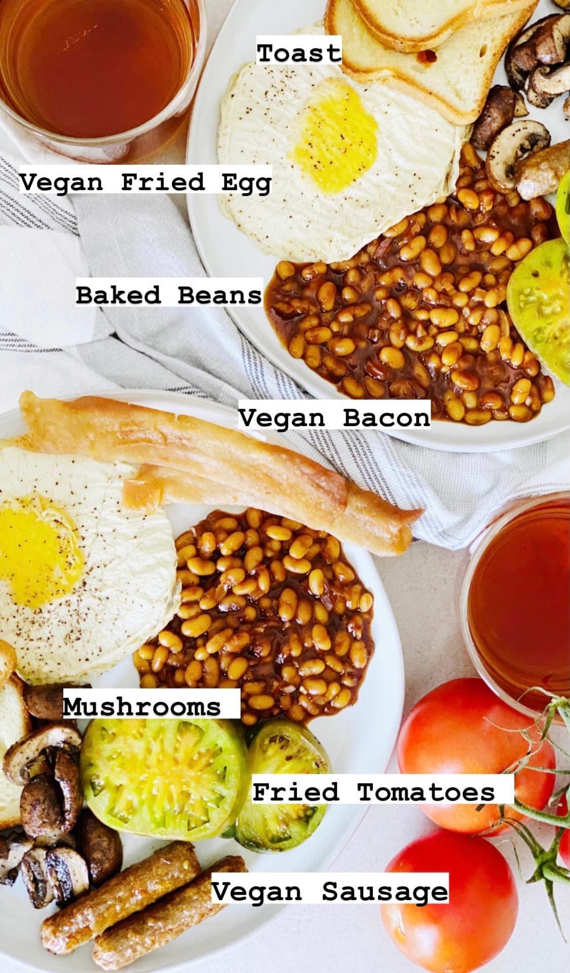 Ingredients For A Proper Vegan Gluten-Free English Breakfast