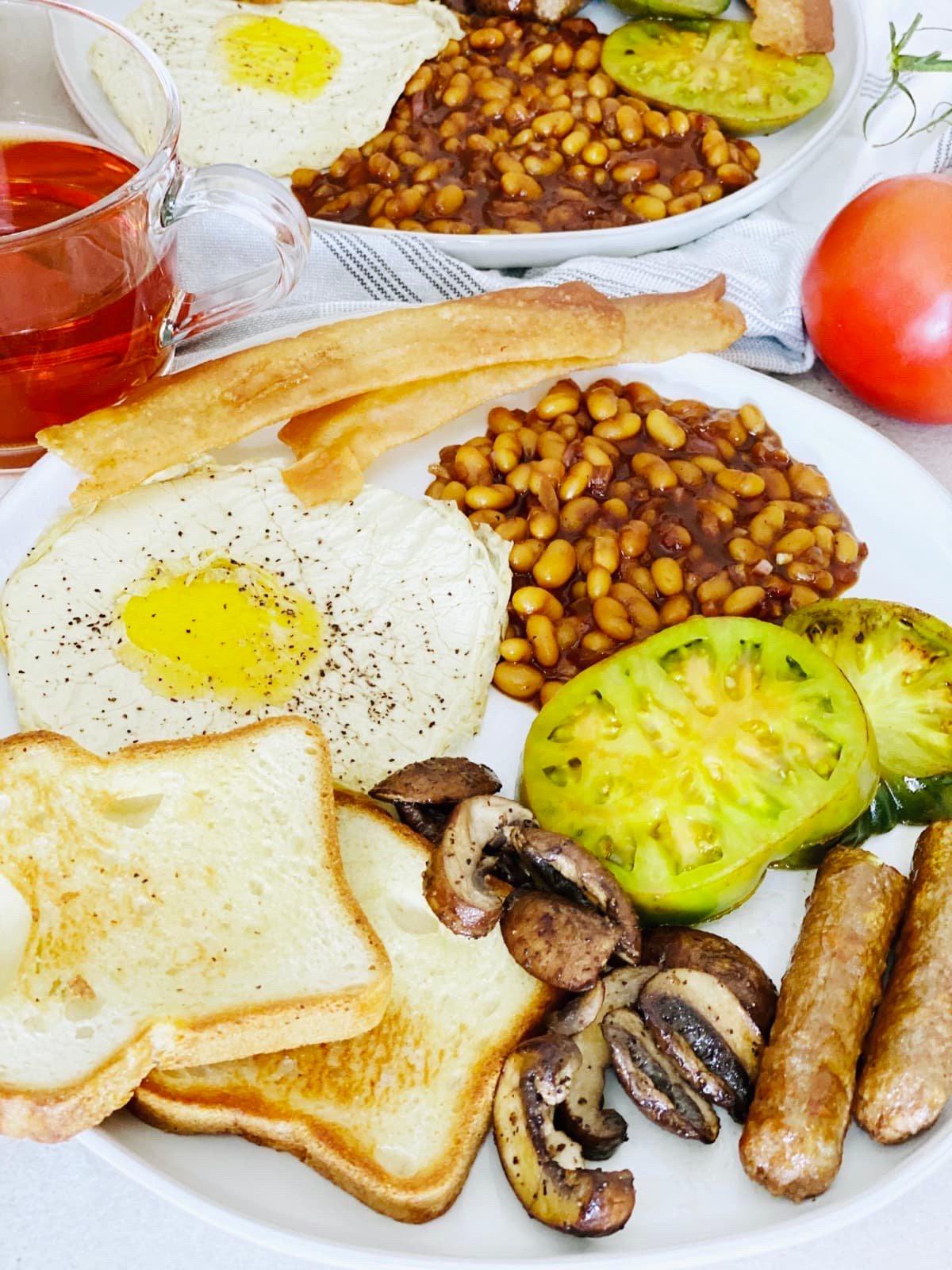 A Vegan English Breakfast With Gluten-free Toast