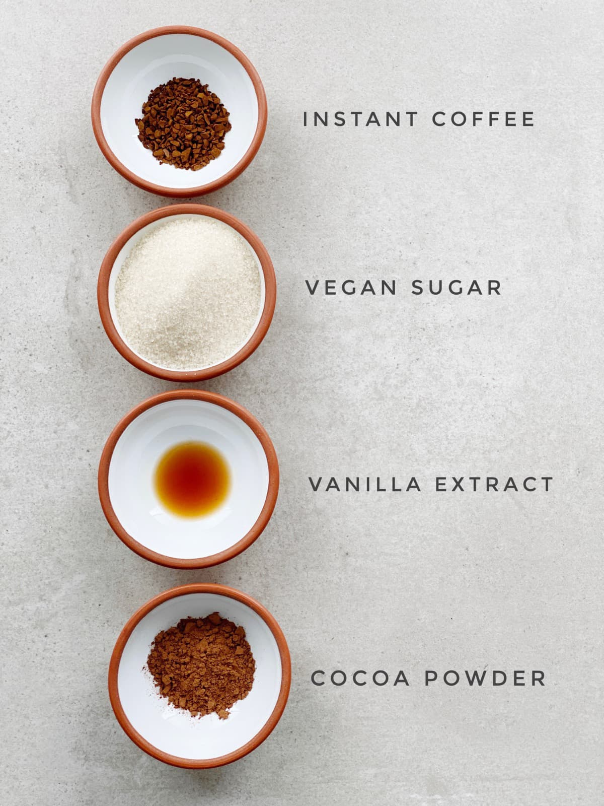 Ingredients For Quick Tofu Chocolate Pudding